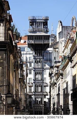 The Famous Santa Justa Elevator