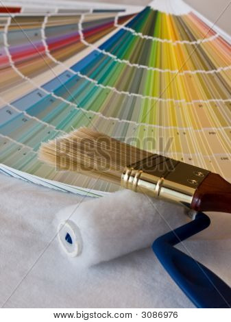 Paint Colors And Brushes