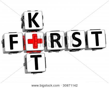 3D First Kit Crossword Block Button Text