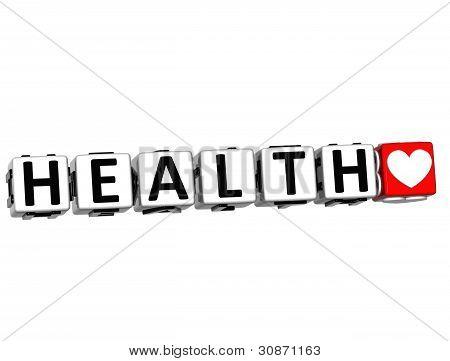 3D Health Block Button Text