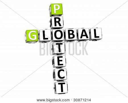 3D Global Protect Crossword Text