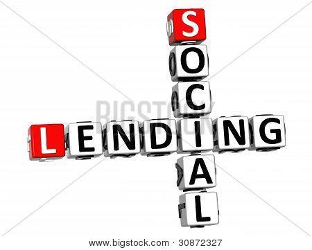 3D Social Lending Crossword Text