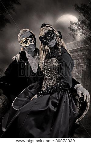 Vampire Goth Man And Woman