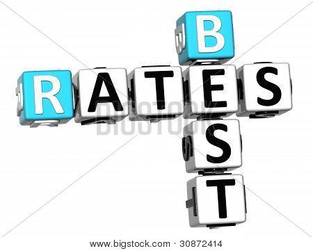 3D Best Today Rates Crossword
