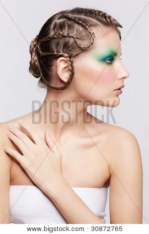 Woman With Creative Hairdo