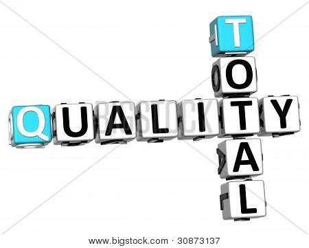 3D Total Quality Text Crossword