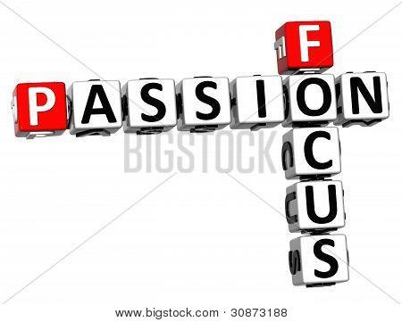 3D Focus Passion Crossword Text