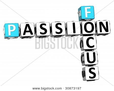 3D Focus Passion Crossword Text