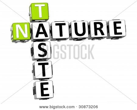 3D Taste Nature Crossword Text