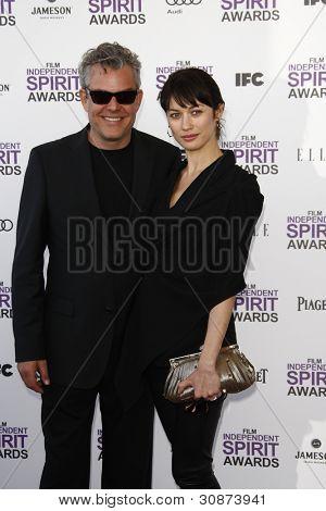SANTA MONICA, CA - FEB 25: Danny Huston; Olga Kurylenko at the 2012 Film Independent Spirit Awards on February 25, 2012 in Santa Monica, California