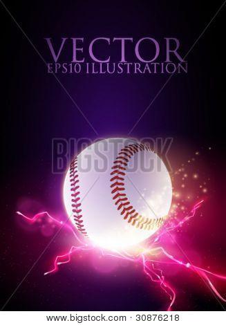 Ilustración de bola de béisbol vector abstracto