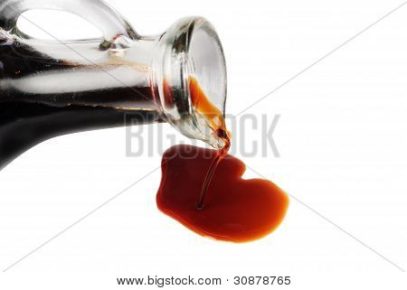 Soy Sauce Isolated On The White Background