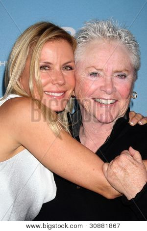 LOS ANGELES - MAR 10:  Katherine Kelly Lang; Susan Flannery arrives at the Bold and Beautiful 25th Anniversary Party at the Perch Resturant on March 10, 2012 in Los Angeles, CA