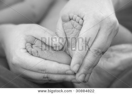 Holding Baby Feet