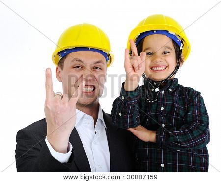 Father and son as architects rocks