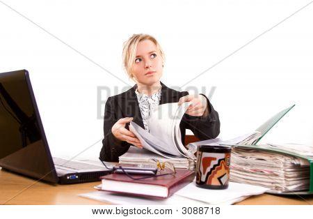 Empresaria en la oficina