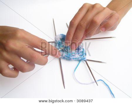 Strick-Hände