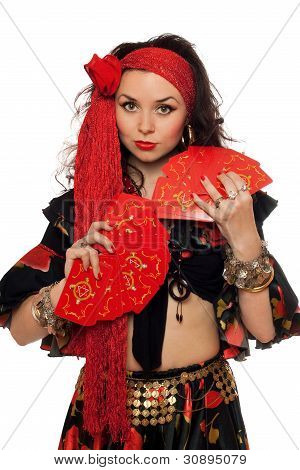 Portrait Of Sensual Gypsy Woman