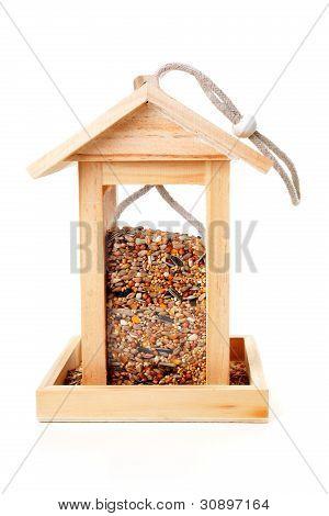 Wooden Bird Feeder House