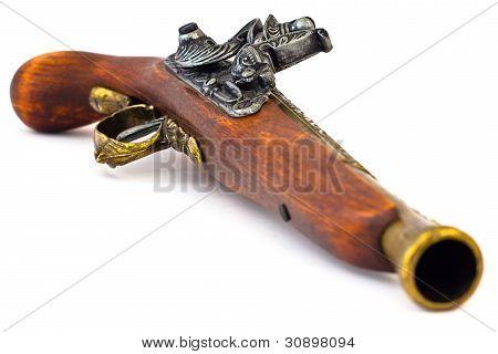 Old Wooden Gun Upper Side