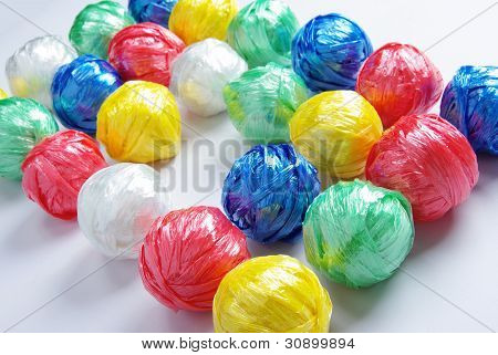 Colorful Ball by Plastic Rope