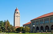 stock photo of turret arch  - The Hoover tower on the campus on Stanford university - JPG