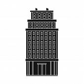Vector Illustration Of Skyscraper And Hotel Sign. Collection Of Skyscraper And Office Stock Vector I poster