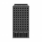 Vector Design Of Skyscraper And City Symbol. Collection Of Skyscraper And Estate Vector Icon For Sto poster