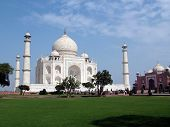 image of mumtaj  - the taj mahal was built by emperor shah jahan as a mausoleum for his wife mumtaj in 1631 ad - JPG