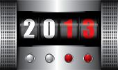 picture of happy new year 2013  - Put the button go to new year in 2013 machine - JPG