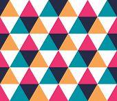 Triangular Background. Seamless Geometric Pattern. Seamless Abstract Triangle Geometrical Background poster