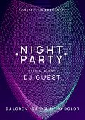 Trance Party. Creative Concert Cover Template. Dynamic Gradient Shape And Line. Neon Trance Party Fl poster