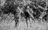 Army Forces. Camouflage. Military Uniform Fashion. Friendship Of Men Hunters. Hunting Skills And Wea poster