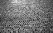 Stone Blocks Made Of Stone. City Pavement Paved With Stone Pavement. poster