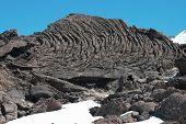 cooled lava flow ropy surface in Etna Park, Sicily poster