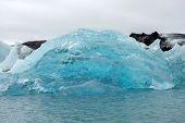 Melting Floating Icebergs In Jokulsarlon, Iceland poster