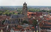 Aerial View Of Saint Salvator Cathedral, Old Town Of Bruges. poster