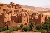 stock photo of fortified wall  - Ait Benhaddou - JPG