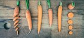 Carrots On Cutting Board Food. Healthy Food. Vegetarian Food. Nutritious Food. Creative Vegetarian F poster