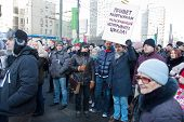 MOSCOW - MARCH 10: Participants of the protest manifestation against falsification of the president