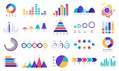 Graphic Charts Icons. Finance Statistic Chart, Money Revenue And Profit Growth Graph. Business Prese poster