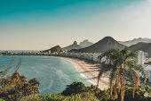 View Of Copacabana Beach In Rio De Janeiro, Brazil poster