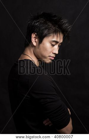 Young Attractive Asian Fashion Man