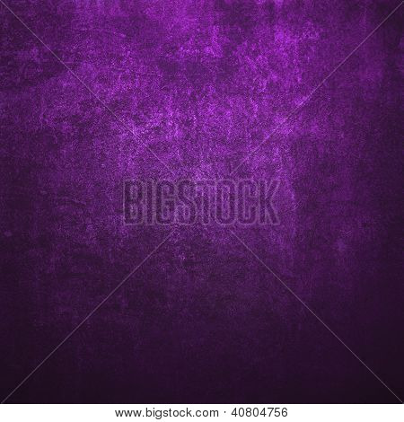 Abstract Purple Background Or Paper With Bright Spotlight And Dark Border Frame With Grunge Backgrou