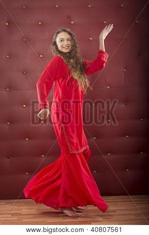girl dancing in orient costume