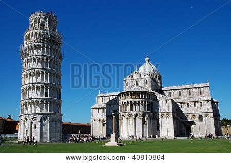 Tourists visiting Pisa, Italy