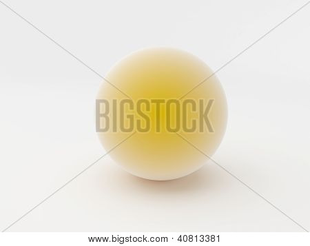 3D Orange Sphere