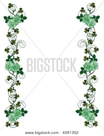 Clover Border Irish rose and clover border