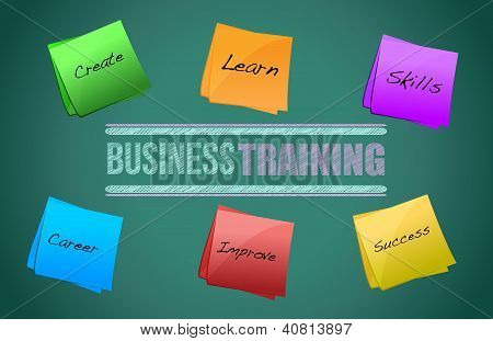 Business Training Colorful Diagram