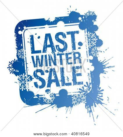 Last winter sale stamp.